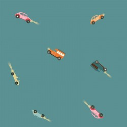 TELA WATERPROOF RETRO CARS